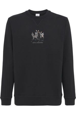 Burberry Herren Sweatshirts - Sweatshirt Aus Baumwolljersey Mit Druck