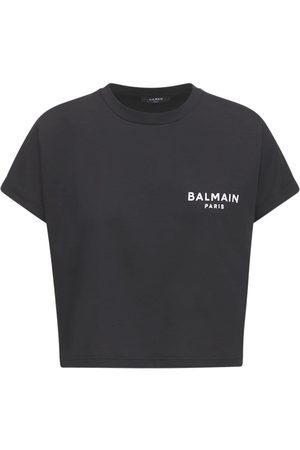 BALMAIN T-shirt Aus Baumwolljersey Mit Logo
