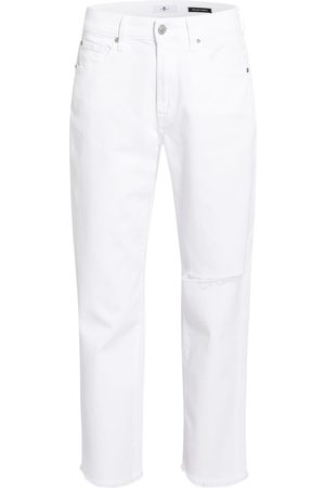7 For All Mankind Jeans The Modern Straight weiss