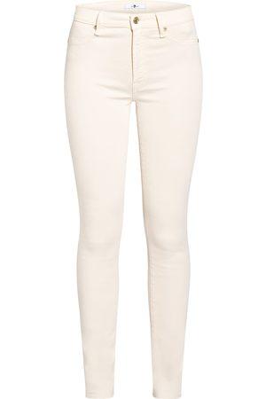 7 For All Mankind Damen Slim - Skinny Jeans Slim Illusion weiss