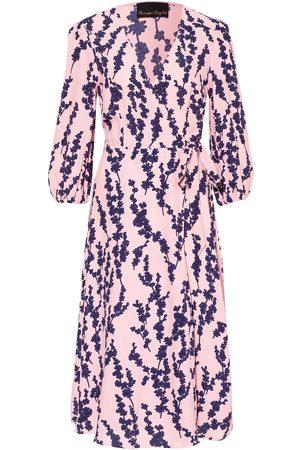 Phase Eight Damen Freizeitkleider - Wickelkleid Jean Mit 3/4-Arm pink