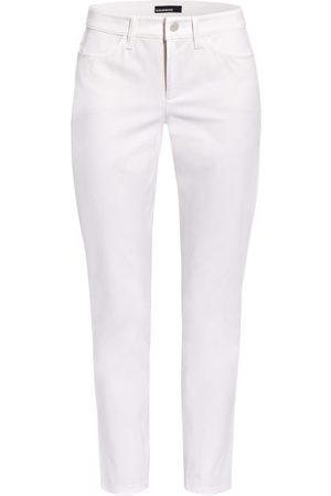 CAMBIO Damen Slim - Jeans Piera weiss