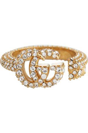 Gucci Ring Double G mit Kristallen
