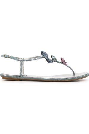 RENÉ CAOVILLA Damen Sandalen - Caterina embellished flat sandals