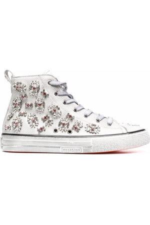 Philipp Plein Crystal-embellished hi-top sneakers