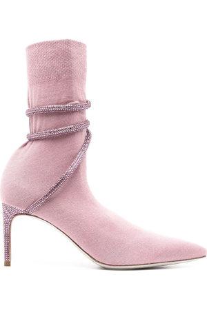 RENÉ CAOVILLA Cleo fabric ankle boots
