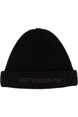 Vetements Hüte - Embroidered logo chunky-knit beanie