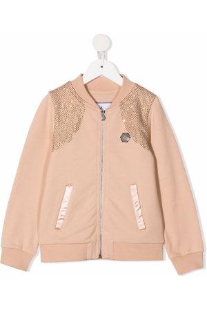 Philipp Plein Iconic Plein rhinestone-embellished bomber jacket