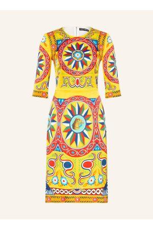 Dolce & Gabbana Seidenkleid Mit 3/4-Arm