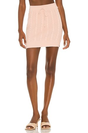 Lovers + Friends Rylan Drawstring Mini Skirt in - Pink. Size L (also in XXS, XS, S, M, XL).