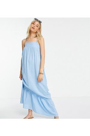 ASOS Tall ASOS DESIGN tall tiered maxi dress in icy blue