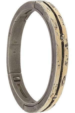 PARTS OF FOUR Sistema hammered-effect bracelet