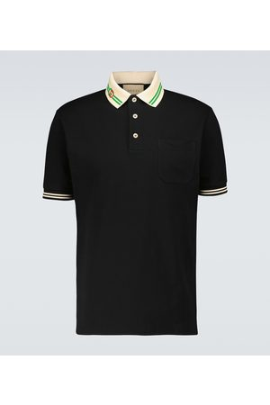 Gucci Poloshirt aus Stretch-Baumwolle