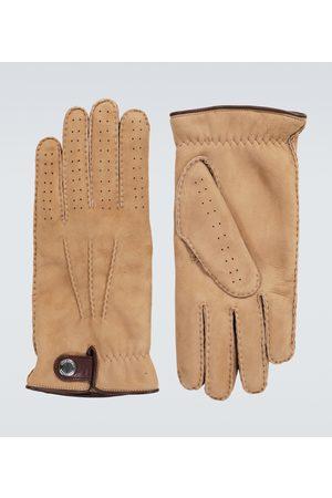 Brunello Cucinelli Handschuhe aus Veloursleder mit Shearling