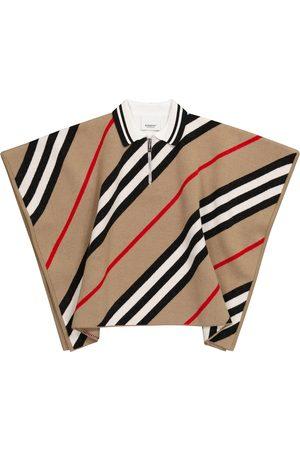 Burberry Cape Icon Stripe aus Wolle