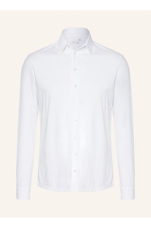Juvia Herren Freizeit - Jerseyhemd Regular Fit weiss