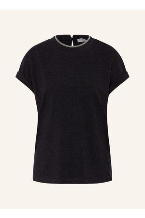 BRUNELLO CUCINELLI Damen Shirts - T-Shirt silber
