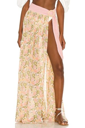 Tularosa Lena Maxi Skirt in - Pink. Size L (also in XXS, XS, S, M, XL).