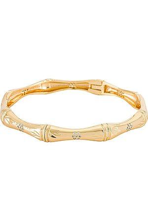 Natalie B Jewelry Bibi Bamboo Bangle in - Metallic . Size all.