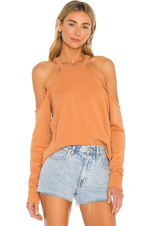 Lovers + Friends Cropped Crewneck With Cold Shoulder in - . Size L (also in XXS, XS, S, M, XL).