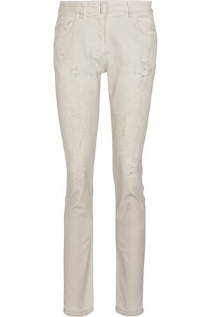 Givenchy Mid-Rise Distressed Skinny Jeans