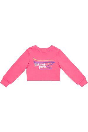Balmain Cropped-Sweatshirt aus Baumwolle
