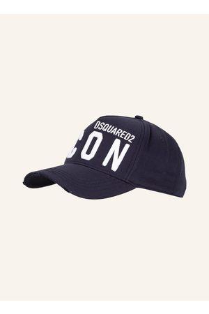 Dsquared2 Herren Hüte - Cap Icon Mit Stickereien blau