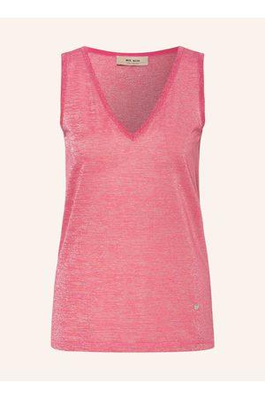 MOS MOSH Damen Shirts - Top Casio Mit Glitzergarn pink
