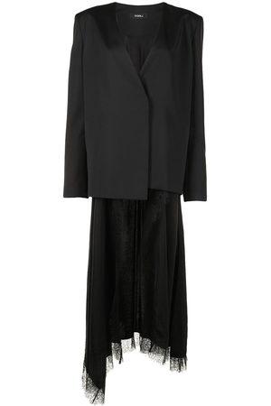GOEN.J Damen Blazer & Sakkos - Silk-wool blend wrap blazer