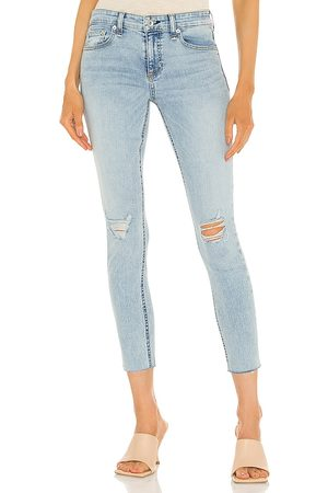 RAG&BONE Damen High Waisted - Cate Mid Rise Ankle Skinny Jean in - Blue. Size 23 (also in 24, 25, 26, 27, 28, 29, 30).