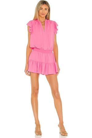 Amanda Uprichard Lela Romper in - Pink. Size L (also in XS, S, M).