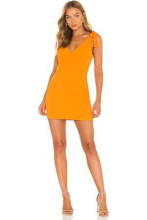 Amanda Uprichard Allora Dress in - Orange. Size L (also in XS, S, M).