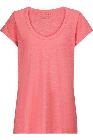 Velvet T-Shirt Kira aus Baumwolle