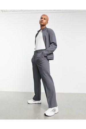ASOS Herren Jacken - Co-ord smart track jacket in grey crinkle