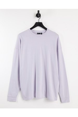 ASOS DESIGN Long sleeve oversized t-shirt in lilac-Purple