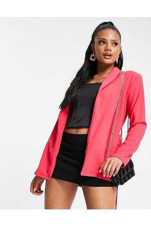 Public Desire Damen Blazer & Sakkos - Belted pink blazer co ord in pink