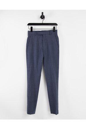 ASOS DESIGN Herren Chinos - Skinny smart trouser in navy with elasticated waist