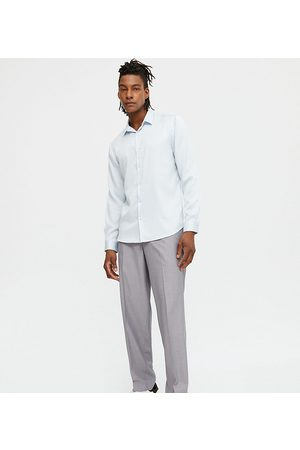 New Look Loose fit smart trousers in grey