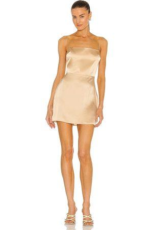 Amanda Uprichard Avani Dress in - Beige. Size L (also in XS, S, M).