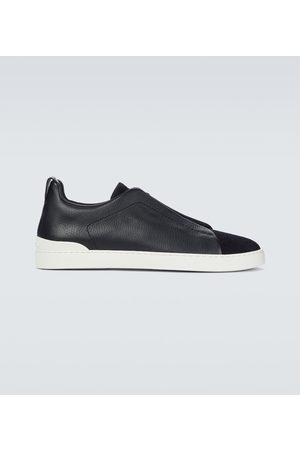 Ermenegildo Zegna Sneakers Triple Stitch aus Leder