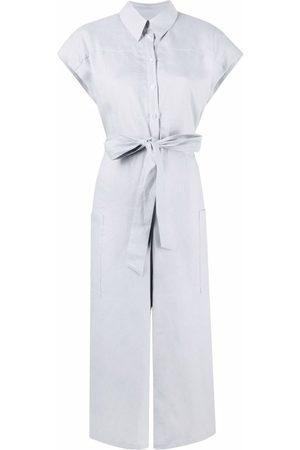 12 STOREEZ Damen Jumpsuits - Buttoned-up linen jumpsuit