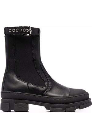 Serafini Ankle-buckle leather boots