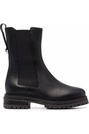 Sergio Rossi Chunky-sole leather boots