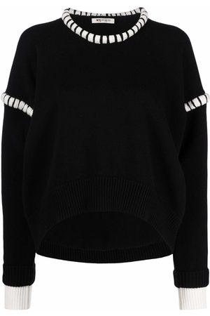 PORTS 1961 Layered contrast-trim knit jumper
