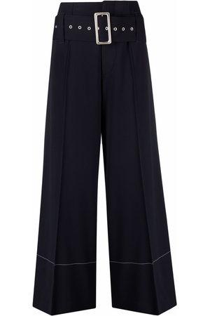 10 CORSO COMO Damen Weite Hosen - High-waist belted wide-leg trousers