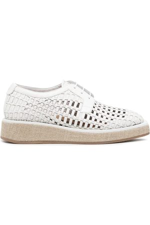 Emporio Armani Woven leather lace-up shoes