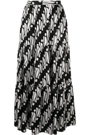 ANDREW GN Damen Maxiröcke - Geometric flared maxi skirt