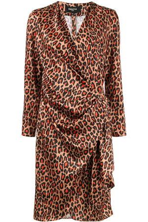 Paule Ka Damen Freizeitkleider - Leopard print wrap dress