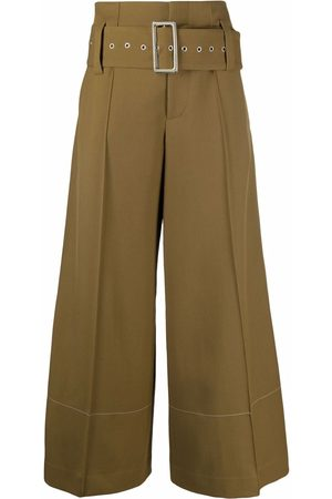 10 CORSO COMO High-waist belted wide-leg trousers