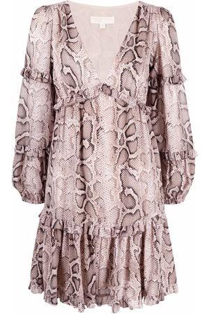 Michael Kors Damen Freizeitkleider - Snakeskin-print mini dress